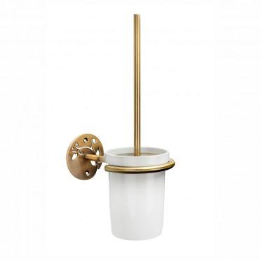 Toilettenbürste und Halterung Gold antikisiert